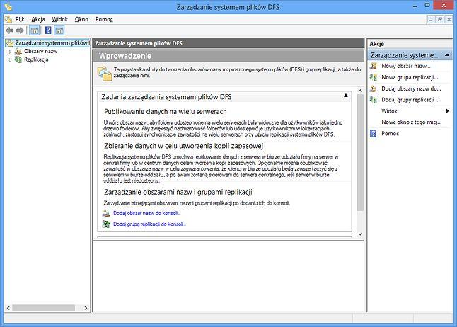 Zarządzanie systemem plików DFS