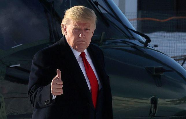Prezydent USA Donald Trump na Światowym Forum Ekonomicznym w Davos