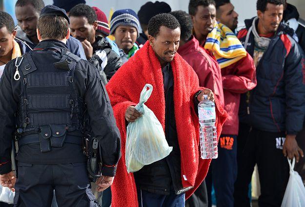 Imigranci na włoskiej wyspie Lampedusa