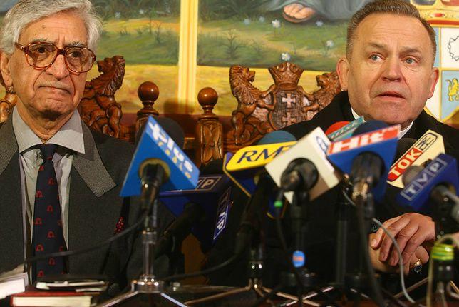 Prof. Peter Raina i ks. Henryk Jankowski na konferencji prasowej w 2007 roku