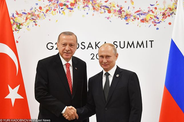 Prezydent Turcji Recep Tayyip Erdogan i prezydent Rosji Władimir Putin
