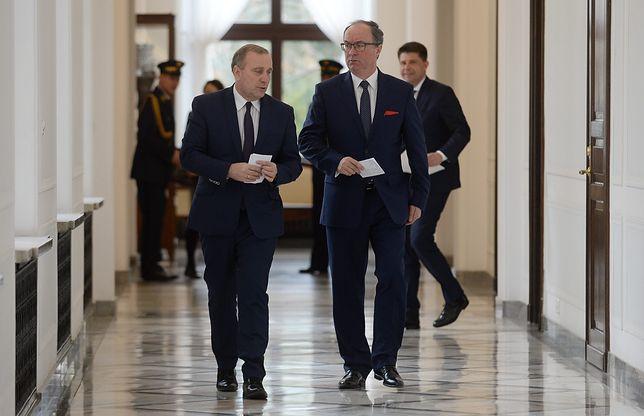 Grzegorz Schetyna i Włodzimierz Czarzasty rozmawiają o ewentualnej politycznej współpracy