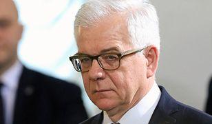 Minister Spraw Zagranicznych Jacek Czaputowicz bronił ustawy o IPN