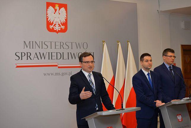 Minister sprawiedliwości Zbigniew Ziobro i jego zastępcy