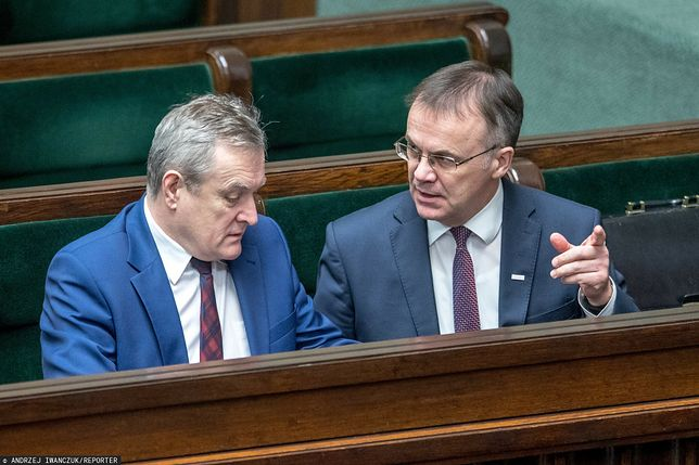 Wicepremier Piotr Gliński oraz wiceminister Jarosław Sellin z PiS
