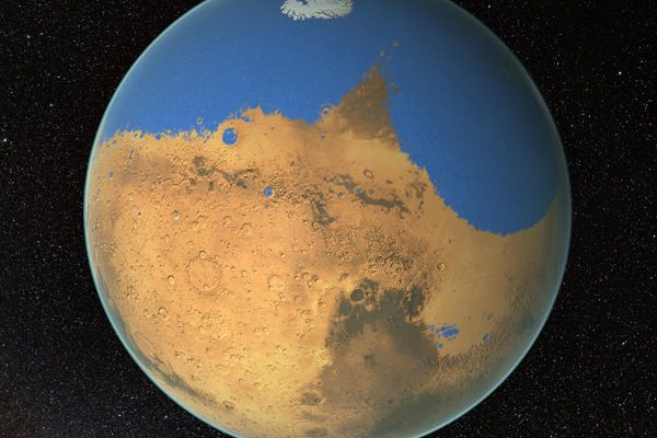 Na Marsie mogło istnieć życie. Planetę pokrywał olbrzymi ocean