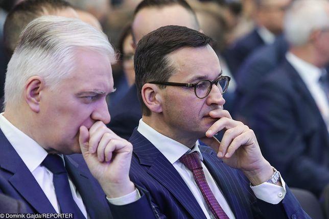 Konferencja Mateusza Morawieckiego i Jarosława Gowina