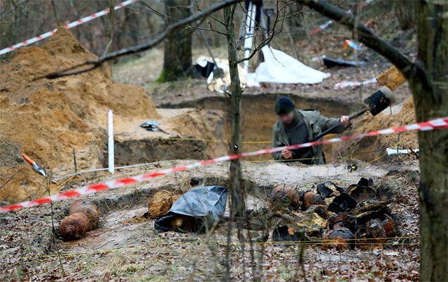 Butle z gazem bojowym z I wojny światowej odnalezione na warszawskim Bemowie