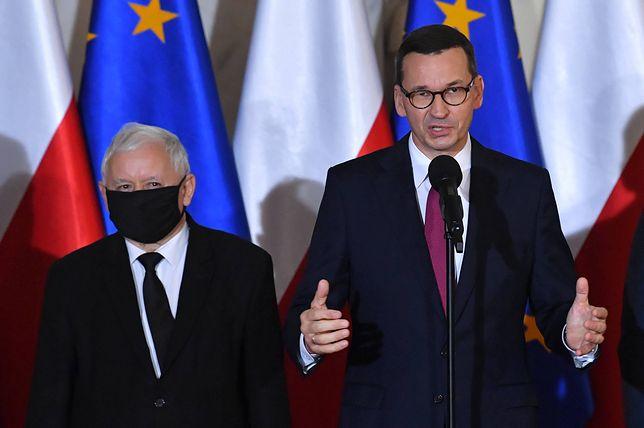 Na zdjęciu: Jarosław Kaczyński i Mateusz Morawiecki