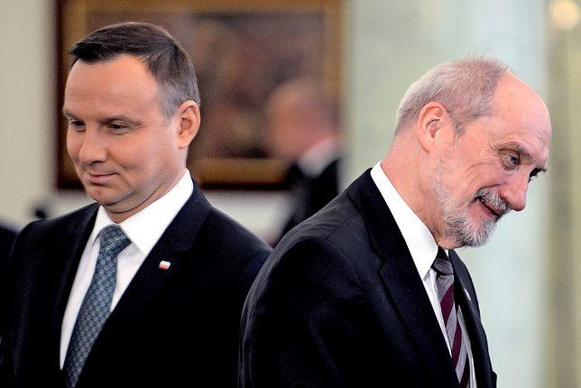 Kolejny zgrzyt na linii Antoni Macierewicz - Andrzej Duda