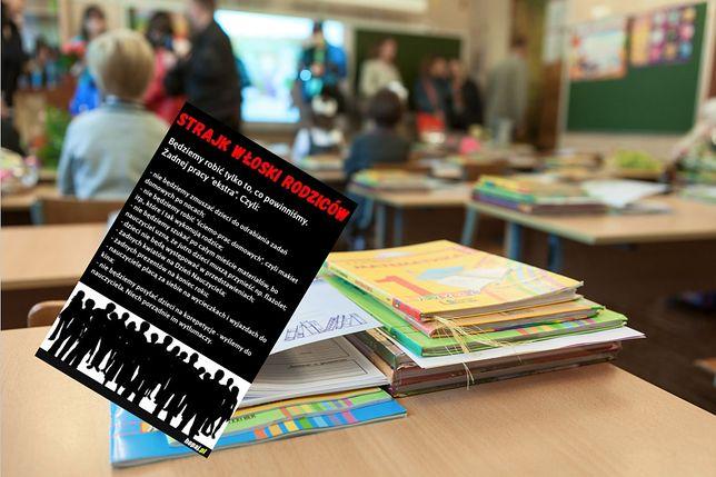 """W deklaracji niecodziennego strajku rodziców na pierwszym miejscu jest wyrzeczenie się """"zmuszania dzieci do odrabiania zadań domowych po nocach""""."""