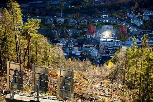 Rjukan - mroczne miasteczko, które rozświetlono za pomocą luster