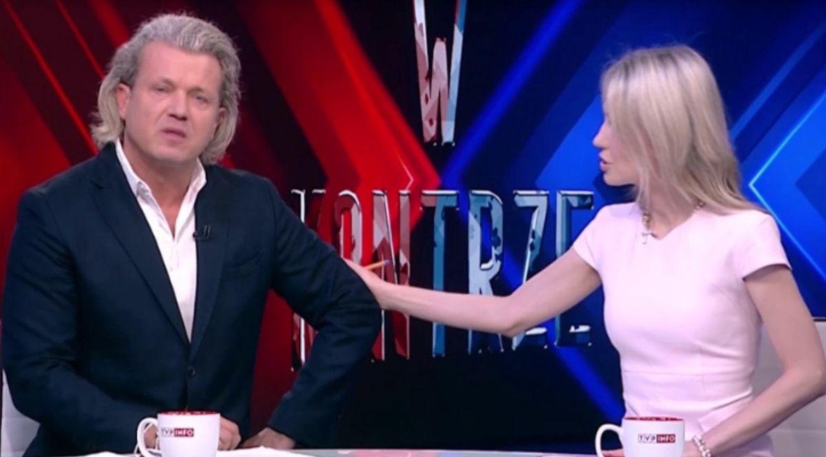 Magdalena Ogórek podtrzymywała na duchu Jarosława Jakimowicza na antenie TVP Info