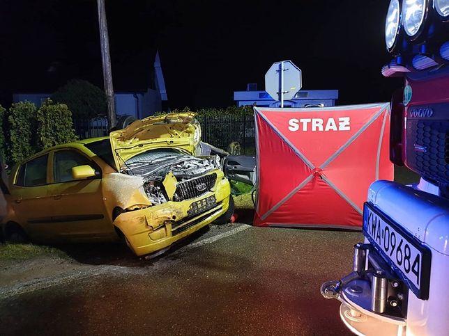 Policja wyjaśnia okoliczności wypadku w Wieprzu.