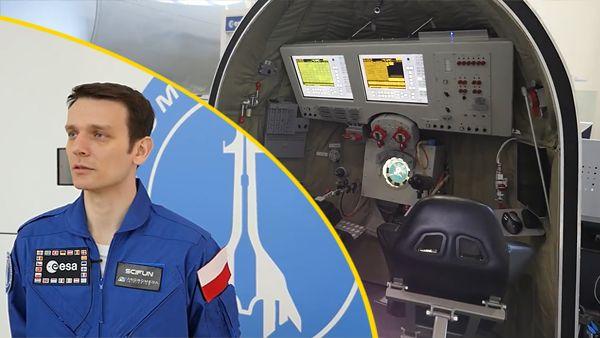 Inicjatywa Andromeda -Polak trenuje do lotu w kosmos