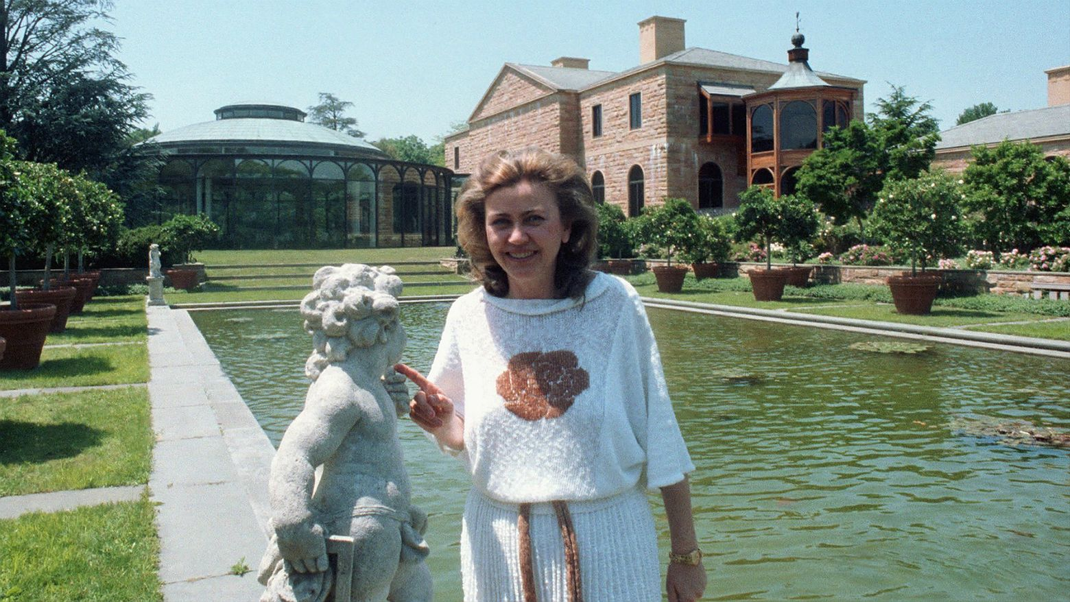 Barbara Piasecka-Johnson w rezydencji Jasna Polana