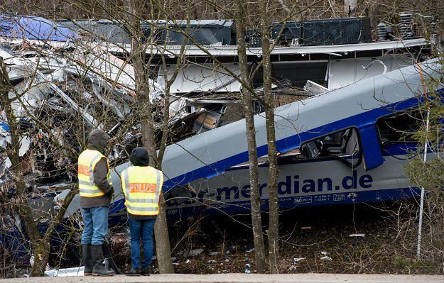 Niemieccy śledczy: katastrofę kolejową w Bawarii spowodował błąd ludzki