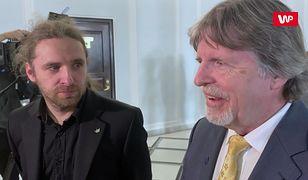 """Andrzej Sośnierz i jego syn Dobromir w Sejmie. """"Światło i ciemność"""""""