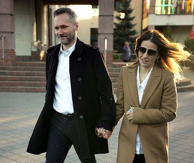 Jarosław Wałęsa i jego żona Ewelina Jachymek