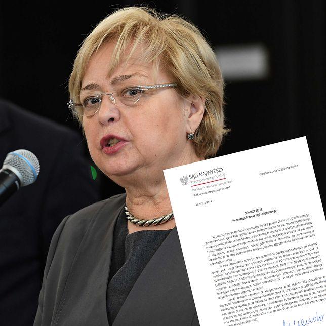 """Małgorzata Gersdorf apeluje do członków Izby Dyscyplinarnej. """"Nie orzekajcie"""""""