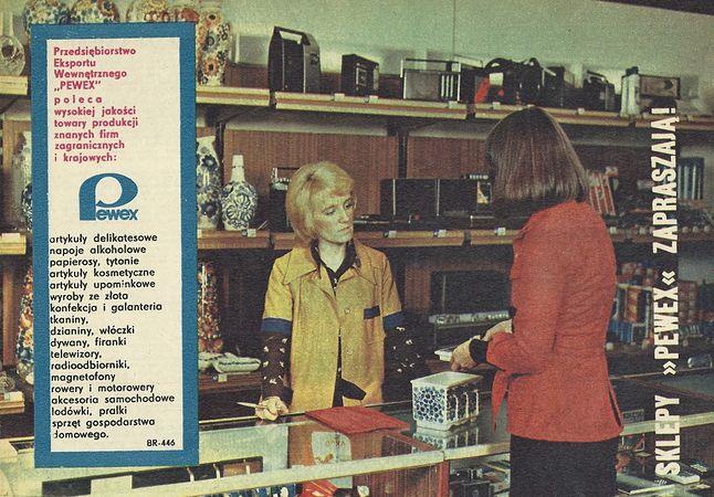 Produkty dostępne w eksporcie wewnętrznym były trudno dostępne w normalnych sklepach
