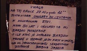 Poruszenie we Wrocławiu. Szukają okularów babci Jadzi