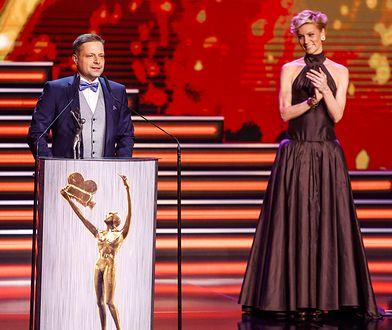 Marek Sekielski i Anita Werner na gali rozdania Telekamer