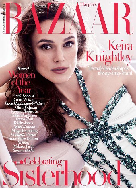 Keira Knightley w grudniowym Harper's Bazaar