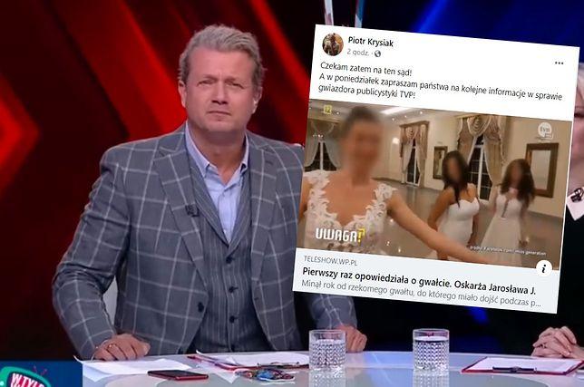 """Jarosław Jakimowicz pozwał Piotra Krysiaka, który ujawnił aferę z """"gwiazdą publicystyki TVP"""""""