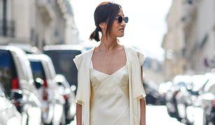 STREET STYLE: Seksowna sukienka slip dress
