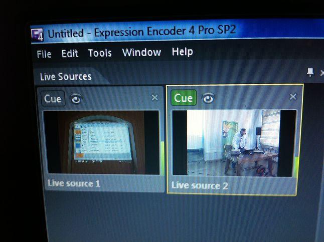 Expression Encoder Pro umożliwiał łatwe przełączanie kamer na żywo w trakcie transmisji