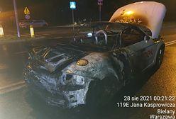 Warszawa. Na Bielanach spłonęło Audi TT Cabrio. Zawrotna prędkość