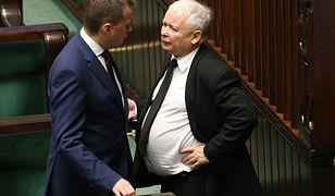 Prezes PiS Jarosław Kaczyński i minister spraw wewnętrznych Mariusz Błaszczak.