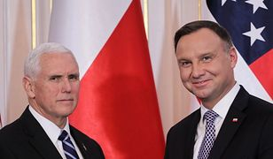 Mike Pence i Andrzej Duda