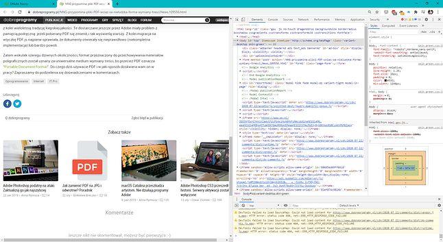 """Tak, pliki HTML to też """"dokumenty"""", ale określenie to jest pewnym nadużyciem w niniejszym przypadku"""