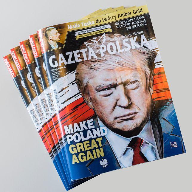 """""""Gazeta Polska"""" na przyjazd Donalda Trumpa do Warszawy."""