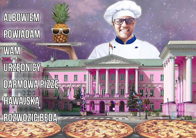 Najdziwniejszy kandydat na prezydenta. Urzędnikom każe rozwozić pizzę, obiecuje sylwestra co tydzień