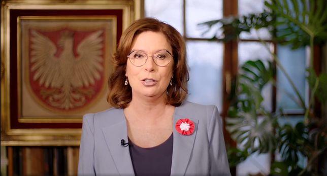 Narodowe Święto Niepodległości. Małgorzata Kidawa-Błońska w filmie niczym prezydent