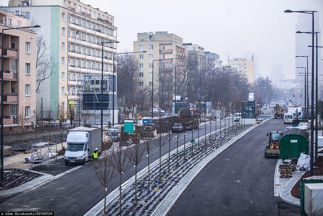Warszawa. Budowa stacji II linii metra na Woli Młynów, styczeń 2020 r.