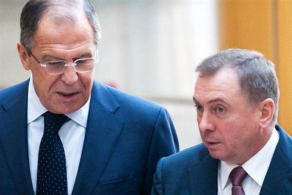 Siergiej Ławrow i Uładzimir Makiej