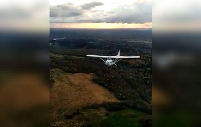 Samoloty omal się nie zderzyły. Pilot zamieścił w sieci wideo