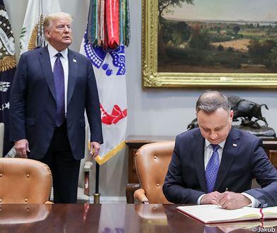 """""""Wielowiekowa przyjaźń"""". Wspólna deklaracja Andrzeja Dudy i Donalda Trumpa"""
