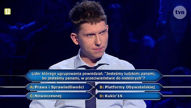 """""""Milionerzy"""": internauci oburzeni pytaniem o Kaczyńskiego. """"Wsadźcie sobie te zmanipulowane, polityczne pytania"""""""