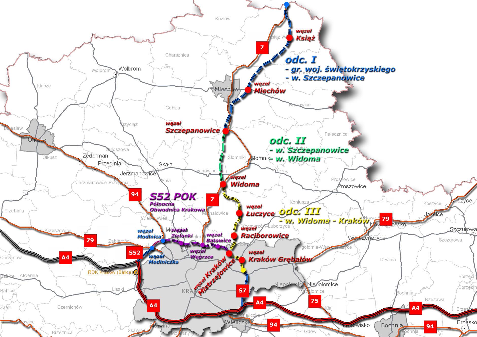Umowa na odcinek S7 Widoma - Kraków została podpisana