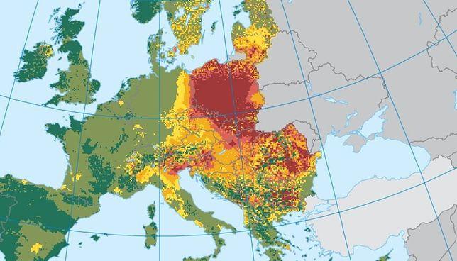 Polska wciąż jest czerwoną plamą na mapie Europy