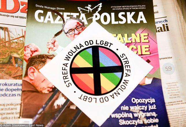 """""""Gazeta Polska"""" wypuściła nakład z naklejką dotyczącą LGBT"""