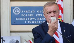 Lider Samoobrony Lech Kuropatwiński
