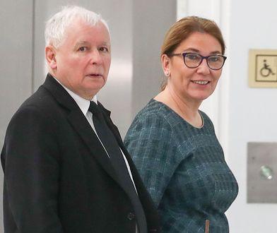 Prezes PiS Jarosław Kaczyński i wicemarszałek Sejmu Beata Mazurek