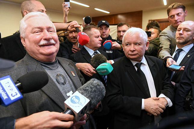 Lech Wałęsa i Jarosław Kaczyński w sądzie