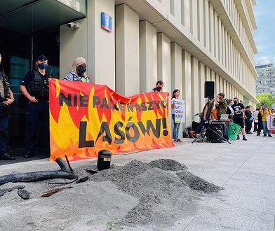 """Protest przed Sejmem. """"Nie palcie naszych lasów"""""""
